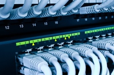 pc network cables to server